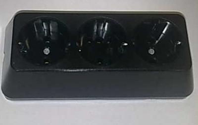 Съединители - Разклонител 3ка трапец черен
