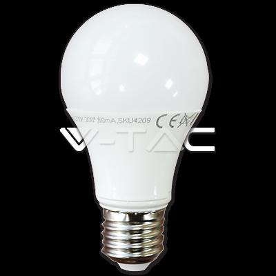 LED КРУШКА Е27 7W 4500K A60 V-TAC