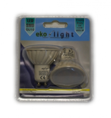 LED Лампа 5W GU10 220V 3000K EKO-LIGHT