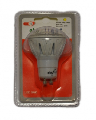 LED Лампа 7W GU10 220V 3000K EKO-LIGHT