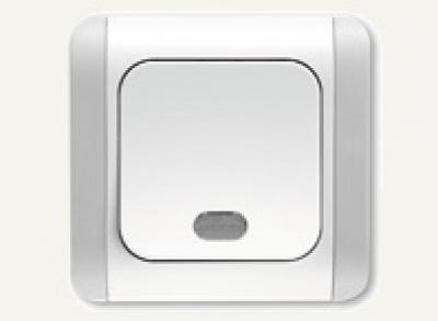 Карделен - Карделен лихт бутон + сигнал бял