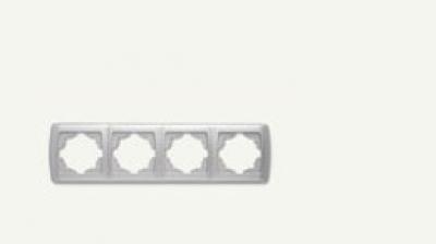Кармен Бял - Кармен рамка-4на хоризонтална бяла