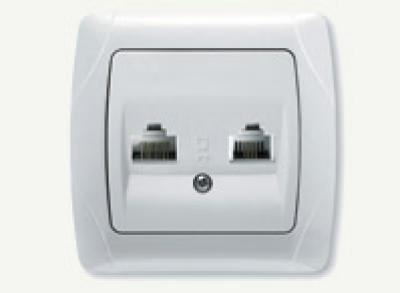 Кармен Бял - Кармен контакт компютър RJ45+RJ11 бял