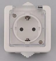Лекса - В.М IP44 - Лекса контакт влагозащитен бял