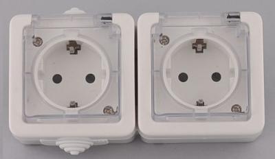 Лекса - В.М IP44 - Лекса контакт двоен влагозащитен бял