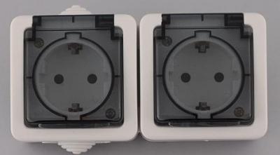 Лекса - В.М IP44 - Лекса контакт двоен влагозащитен прозр.