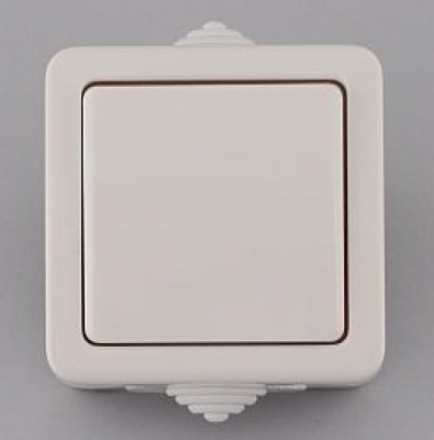 Лекса - В.М IP44 - Лекса ключ сх.1 влагозащитен бял