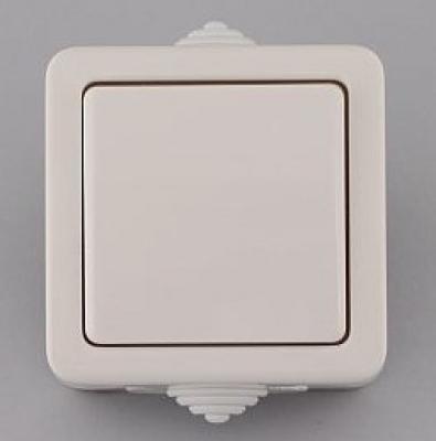 Лекса - В.М IP44 - Лекса ключ сх.6 влагозащитен бял