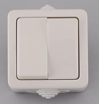 Лекса - В.М IP44 - Лекса ключ сх.5 влагозащитен бял
