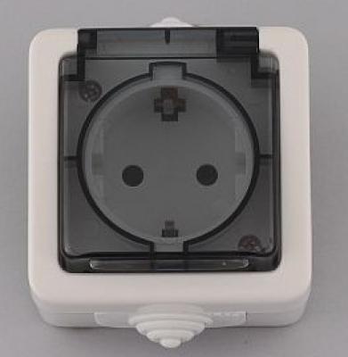 Лекса - В.М IP44 - Лекса контакт влагозащитен прозр.