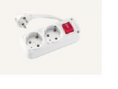 Разклонители VIKO - Разклонител 2ка с 5м. кабел + ключ